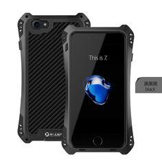 100% New AMIRA R-JUST Life Waterproof Carbon Fiber Aluminum Cover Case For iPhone 7/7 Plus 6 6S 6PLUS