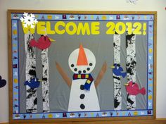 "january bulletin boards | Welcome 2012"" January Bulletin Board 