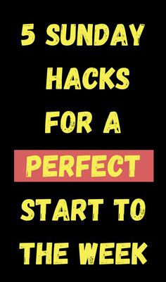 Productivity 101 - these helpful Sunday hacks will set you up for an organized and productive week! #sunday #productivity #organization