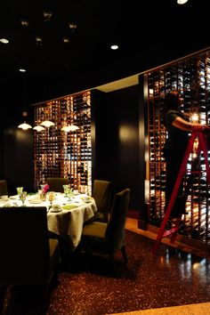 The Wine Cellar room at Quattro can be reserved for two! Most romantic spot in Four Seasons Hotel Houston