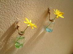 ビーチグラス&小瓶の一輪ざし