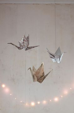 Origami cranes:  Usher in the New Year with the symbol of hope and peace, supersized.