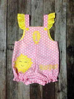 Pink Lemonade First Birthday Romper - You Are My Sunshine