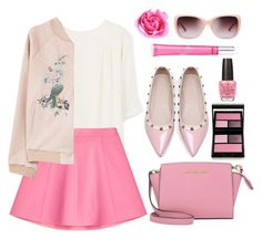 """""""Pink"""" by bliznec ❤ liked on Polyvore featuring MANGO, RED Valentino, Michael Kors, Surratt, Beauty Rush, OPI and Tory Burch"""
