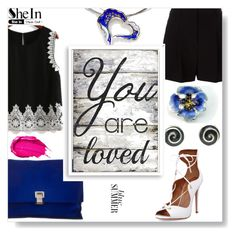 """You are loved"" by giampourasjewel ❤ liked on Polyvore featuring DKNY, Proenza Schouler, Aquazzura, Urban Decay, Pier 1 Imports, Bomedo and shein"