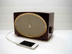 made from an old Zenith radio!