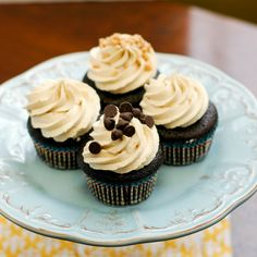 Good Thymes and Good Food: Chocolate Cupcakes with Cookie Dough Buttercream