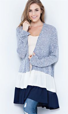 A comfy cardigan with a feminine flair :-)