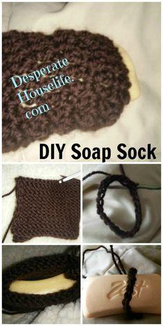 Soap Sock {Knit and Crochet Pattern}