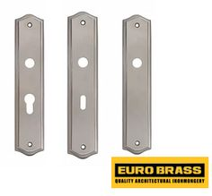 Nickel plated door back plates South Africa - Eurobrass