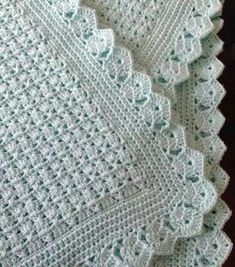 58 Ideas for crochet patterns blanket girl baby afghans Crochet Blanket Border, Baby Afghan Crochet, Crochet Quilt, Crochet Borders, Crochet Blanket Patterns, Crochet Stitches, Free Crochet, Boy Crochet, Crochet Projects