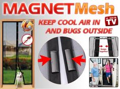 As Seen on TV - Magnet Mesh Hands-Free Screen Doors on sale w/ free shipping @ Coupaw.com