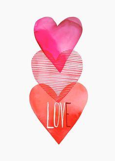 ~Margaret Berg Art | #illustration #hearts #love: