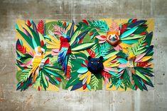Jurassique Dinosaure Jungle Wall Sticker Murale Autocollant Enfants Chambre À Coucher Décoration Maison BH21