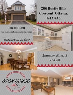 OPEN HOUSE TODAY From 2 to 4pm -266 Rustic Hills Crescent, Orléans, ON K4A 5A5  #ohreale #kwwelcomehome #ottawaopenhouse #613homes #orleansstunner