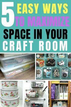 Sewing Room Storage, Craft Room Storage, Craft Organization, Storage Ideas, Storage Hacks, Sewing Rooms, Storage Solutions, Craft Room Design, Craft Space
