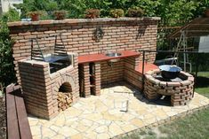 15 models of brick garden grill - topy.ro- 15 models of brick garden grill – topy. Outdoor Oven, Outdoor Fire, Outdoor Cooking, Outdoor Decor, Backyard Kitchen, Outdoor Kitchen Design, Brick Grill, Fire Pit Cooking, Built In Grill