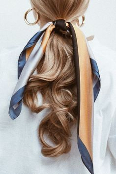 - Style me Beautiful: Hair, Nails & Beauty - Frisuren Scarf Hairstyles, Pretty Hairstyles, Fashion Hairstyles, Low Pony Hairstyles, Classic Hairstyles, Blonde Hairstyles, Layered Hairstyles, Everyday Hairstyles, Hairstyle Ideas