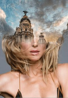 Madrid, customized portrait for Elsa Pataky by Antonio mora Digital Art Photography, Creative Photography, Portrait Photography, Digital Portrait, Portrait Art, Robert Frank, Photoshop, Double Exposure Photography, Foto Art
