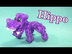 Rainbow Loom Charms: HIPPO: How To Design / Tutorial (DIY Mommy)