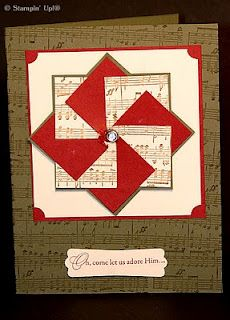 I like the sheet music behind the block and used again in the pinwheel
