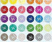 30% OFF sale 30 button clipart commercial use, vector graphics, digital clip art, digital images - PGCLPK469