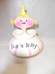 Holt Howard Vintage 1958 Jam 'n Jelly Pixieware Jar & Spoon