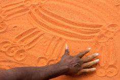 Sand drawing Australia