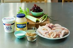 Chicken salad recipe with great pictures!  Has grapes, celery and almonds!