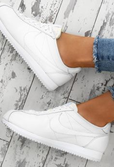 Nike Classic Cortez White Leather Trainers