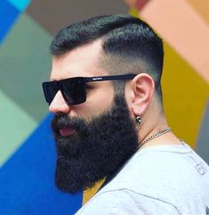 Haircut For Men Black Beards 66 Ideas Badass Beard, Epic Beard, Men Beard, Mens Haircuts Straight Hair, Haircuts For Men, Beard Styles For Men, Hair And Beard Styles, Beard Grooming Kits, Beautiful Men Faces