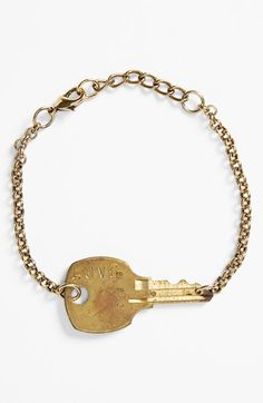 This bracelet is so cool!!  I will have to do this with a key from my hubby and mine's first house.   #Nordstrom