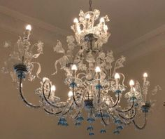 Murano chandeliers and Venetians mirrors: the Spare parts Blown Glass Chandelier, Old Chandelier, Murano Chandelier, Modern Chandelier, Chandeliers, Ceiling Lamp, Ceiling Lights, Little Rose, Venetian Mirrors