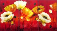 colourful paintings of flowers