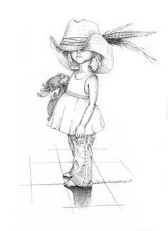 """Maylisa"" by Christen Humphreys - Design Art Easy Pencil Drawings, Cool Art Drawings, Pen Drawings, Little Girl Drawing, Children Sketch, Drawings Of Children, Cartoon Kunst, Pinturas Disney, Girl Drawing Sketches"