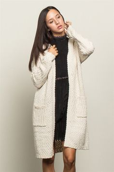 With pockets and chunky texture, this will be the coziest sweater in your closet.