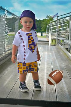 Boys Louisiana State University Outfit, Baby Boys LSU Tigers Game Day Outfit, Boys Football Outfit, Coming Home Outfit, Baby Shower Gift – Basic Game Day Shirts Baby African Clothes, African Dresses For Kids, African Wear, African Fashion, Baby Boys, Baby Boy Football, Newborn Coming Home Outfit, Girls Coming Home Outfit, Baby First Outfit