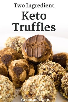 Keto chocolate truffles are one of the easiest and most delicious low carb candy recipes to make. Two keto-friendly ingredients are all it takes to create a chocolate dessert so creamy and decadent -- you won't believe it's low carb. Low Carb Candy, Keto Candy, Keto Cookies, Chip Cookies, Keto Fat, Low Carb Keto, High Fat Keto Foods, Low Carb Desserts, Low Carb Recipes