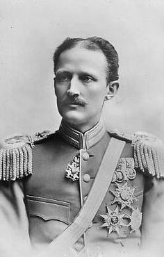 His Royal Highness Prince Carl of Sweden and Norway, Duke of Västergötland (1861-1951). Interesting hairline.