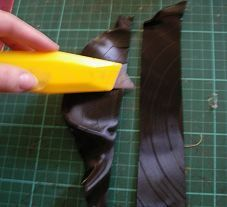 Vinyl LP Record Bangle - DIY Craft Project Instructions - I'm thinking put in oven the first time so you can cut into a strip, 2nd time maybe put over glass bottle to start to form into cuff?