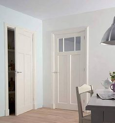 Skantrae Essence - binnendeuren met facetprofilering Interior Door Styles, Interior Styling, Interior Doors, The Doors, Big Houses, Fixer Upper, Living Room Designs, Tall Cabinet Storage, Sweet Home