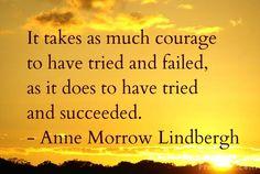 courage, anne morrow lindbergh, failure, success