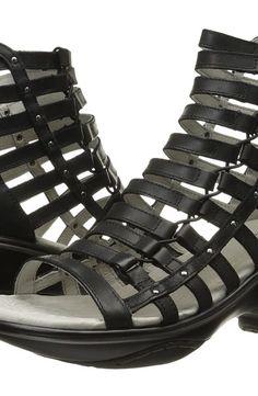 Jambu Brookline (Black) Women's Wedge Shoes - Jambu, Brookline, WJ16BRK01-001, Footwear Open Wedge, Wedge, Open Footwear, Footwear, Shoes, Gift - Outfit Ideas And Street Style 2017