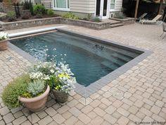 Small Swimming Pools, Small Pools, Swimming Pools Backyard, Swimming Pool Designs, Backyard Landscaping, Lap Pools, Landscaping Company, Landscaping Ideas, Indoor Pools
