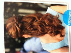 Wedding hair half up half down knot
