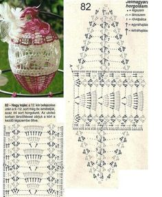 Tojás Thread Crochet, Crochet Doilies, Crochet Lace, Victorian Christmas Ornaments, Christmas Diy, Holiday, Easter Crochet, Happy Easter, Crochet Projects