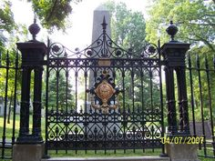 Gate to the Jefferson Family Cemetery at Monticello...Thomas Jefferson is buried here