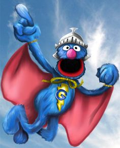 Super Grover - i had the most awesome stuffed Grover growing up.