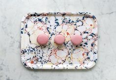 Floating florals breakfast tray, based on paper marbling. By Studio Formata, to be found at Tictail