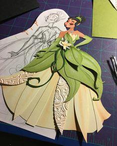 Well that took longer than expected☺️ #ryanwriller #art #artist #paperartist #paperart #cutpaper #handmade #sfartist #disney #disneyinspired #disneyfanart #tiana #princessandthefrog